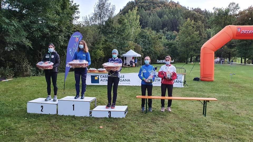 Orienteering podio femminile - Pergine