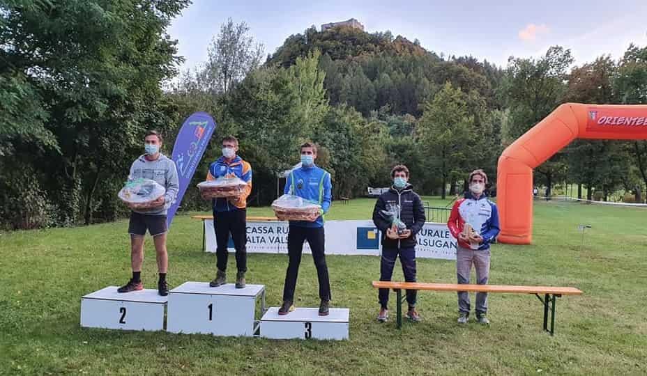 Orienteering podio maschile - Pergine