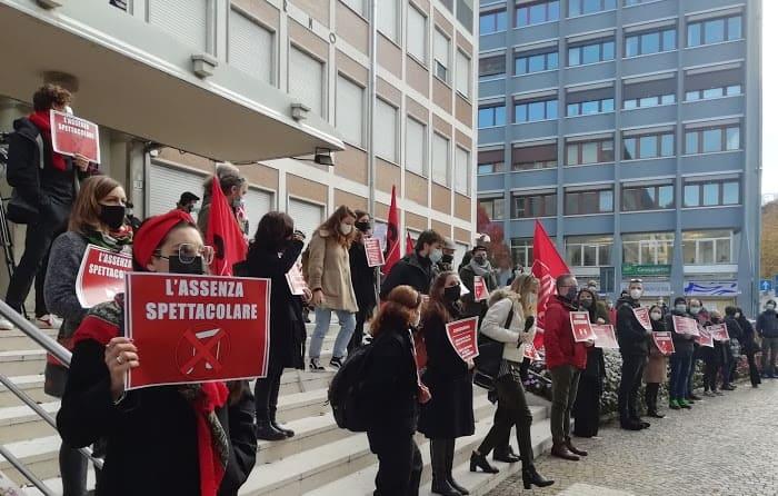 Trento - protesta spettacolo