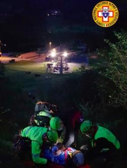 soccorso alpino notte esercitazione