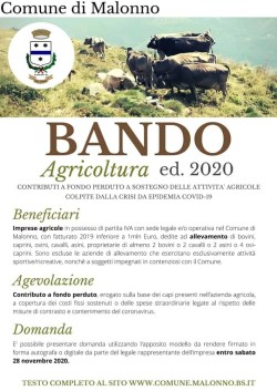 Bando Agricoltura - Malonno