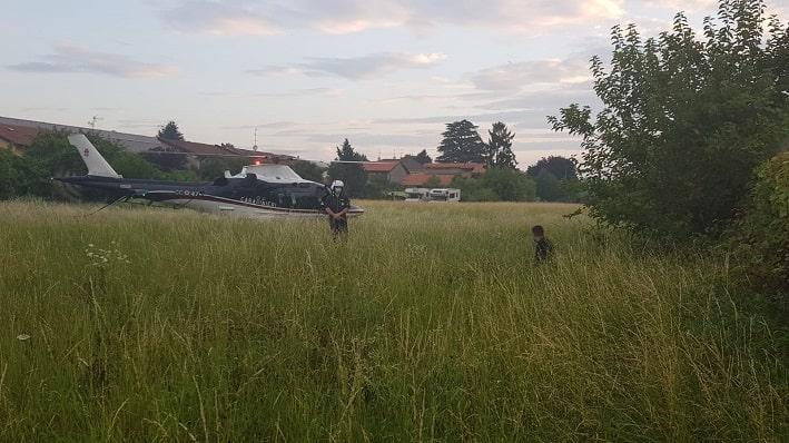 Carabinieri - elicottero - Orio Serio