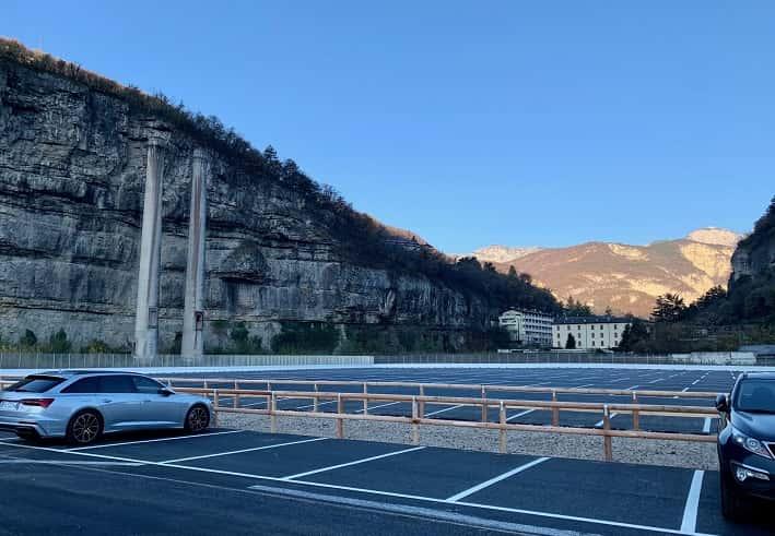 Trento posteggi - ex Italcementi