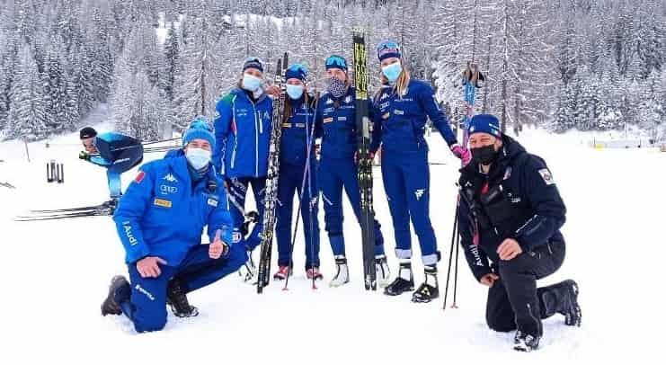 Lucia Insonni seconda da destra - credit foto FISI
